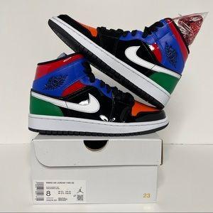 "Nike Air Jordan 1 Retro Mid ""Multicolor"" NEW"